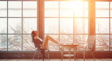 Benefici del sole in casa