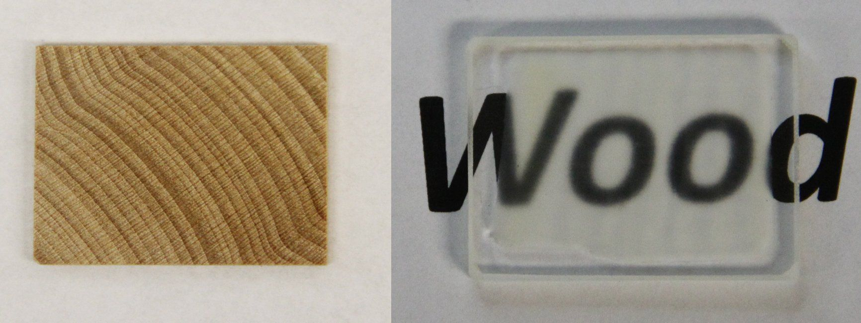 il legno trasparente viene ottenuto con una particolare lavorazione chimica che toglie i pigmenti del legno lasciando inalterate le sue proprietà chimico-fisiche